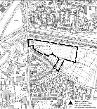 Grundstücksplan Biotop rund um die Alte Eiche - Die Linke, Castrop-Rauxel