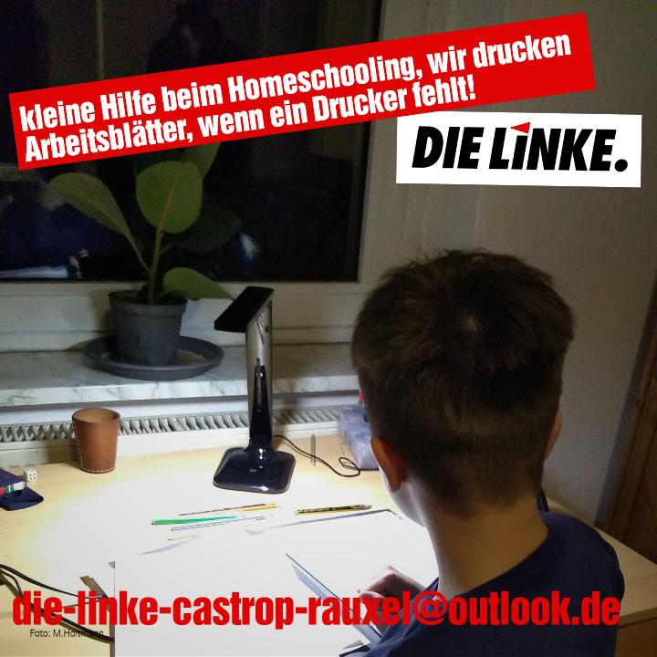 DIE LINKE, Castrop-Rauxel, unterstützt Schüler beim Homeschooling
