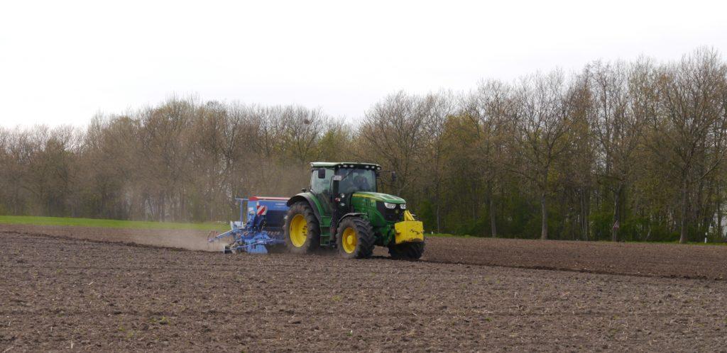 Saatvorgang für die Blühwiese in Castrop-Rauxel - Beitrag von Die Linke